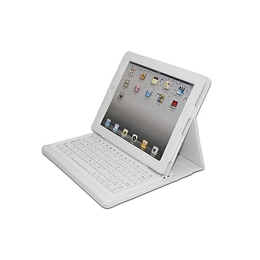 Adesso Bluetooth 3.0 Keyboard with Carrying Case for iPad, White