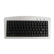 Adesso Mini Keyboard, USB and PS/2,  Silver/Black