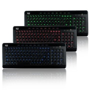 Adesso SlimTouch 120, 3-Color Illuminated Compact Multimedia Keyboard