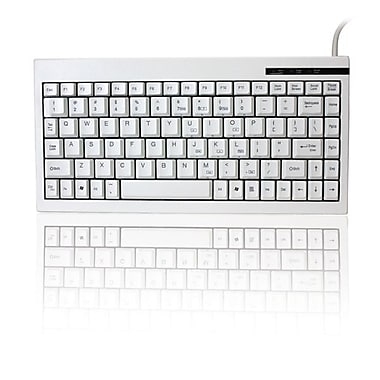 Adesso ACK-595 Mini Keyboard with Embedded Numeric Keypad, USB, White