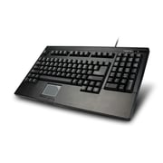 Adesso ACK-730PB EasyTouch 730, Touchpad Keyboard (Black PS/2)