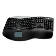Adesso Contoured Ergonomic Keyboard with Built-In Touchpad