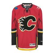 Reebok – Chandail des Flames de Calgary (à domicile) de qualité supérieure