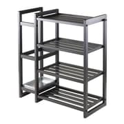 Winsome Isabel 20427 Shoe Rack with Umbrella Stand and Tray, Black