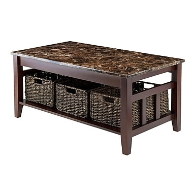 Winsome 76337 Ceramic Coffee Table, Brown, Each (76337)