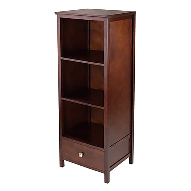 Winsome 94417 Pantry Cupboard with 3 Shelves, Antique Walnut
