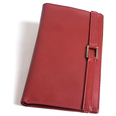 RKW Collection Genuine Leather Travel Wallet, Red