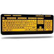 Adesso® 122-Key Large Print Keyboard with High Contrasting Yellow Keycaps