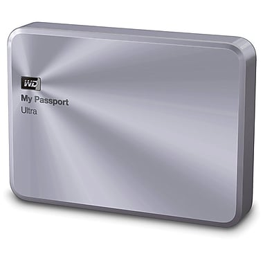 Western Digital® 2TB My Passport Ultra Metal Edition Premium Storage, Silver