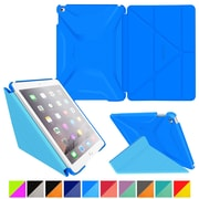 rOOCASE Polyurethane 3D Slim Shell Folio Smart Case Cover for iPad Air 2, Pacific Blue/Barbados Blue