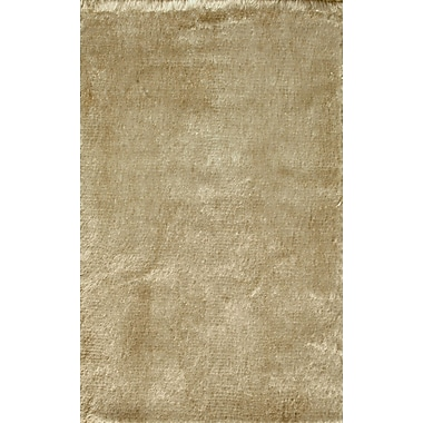 Noble House Crystal Solid Beige Rug; 4' x 6'