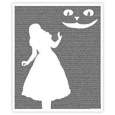 Postertext Alice's Adventures in Wonderland Graphic Art