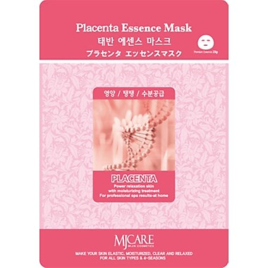 Mj Care Placenta Essence Mask Sheet, 5/Pack