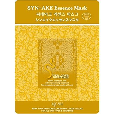 Mj Care – Masque tissu à base de Syn-Ake, 5/paquet