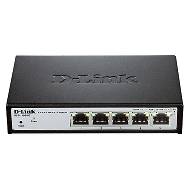 D-Link DGS-1100-05 EasySmart 5-Port Gigabit Switch
