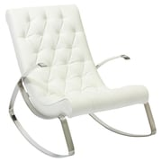 Home Loft Concepts Gregory Tufted Rocking Chair; White