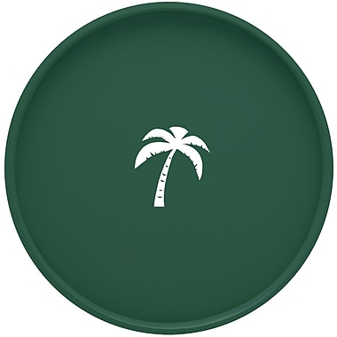 Kraftware Palm Tree 16'' Round Serving Tray