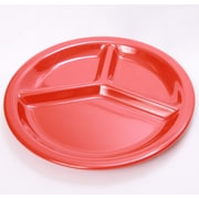 Shall Housewares Melamine Divided Serving Dish; Red