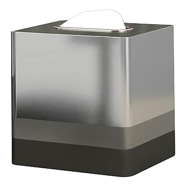 NU Steel Triune Tissue Box Cover; Platinum