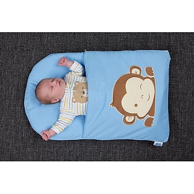 zCush Cotton Characters Nap Mat; Blue Monkey