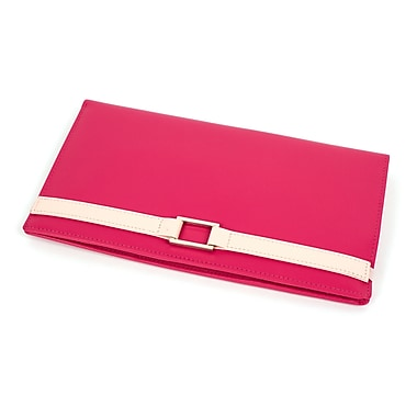 RKW Collection Genuine Leather Travel Wallet, Hot Pink