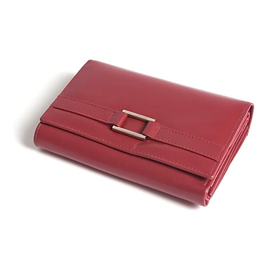RKW Collection Genuine Leather Purse Wallet, Red