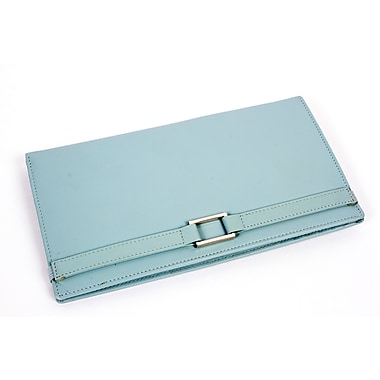 RKW Collection Genuine Leather Travel Wallet, Pale Blue