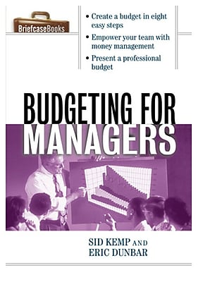 Budgeting for Managers Sid Kemp, Eric Dunbar Paperback