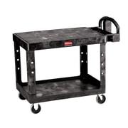 Rubbermaid 2-Shelf Utility Cart, Black (FG450088BLA)