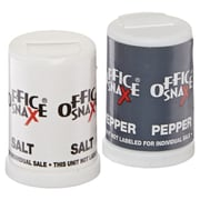 Mini Condiment Set, .4 oz Salt, .17 oz Pepper, Six-Shaker Set, 1 Each