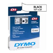 "DYMO® Labelmaker Tapes, 1/4"" x 23', Black on Clear"