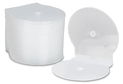 CD Case, C-Shell, Holds CDs and DVDs, Clear, 25/Pack