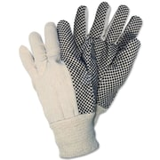 Memphis Gloves® General-Purpose Canvas Gloves, Safety Dotted, White, 12/Box