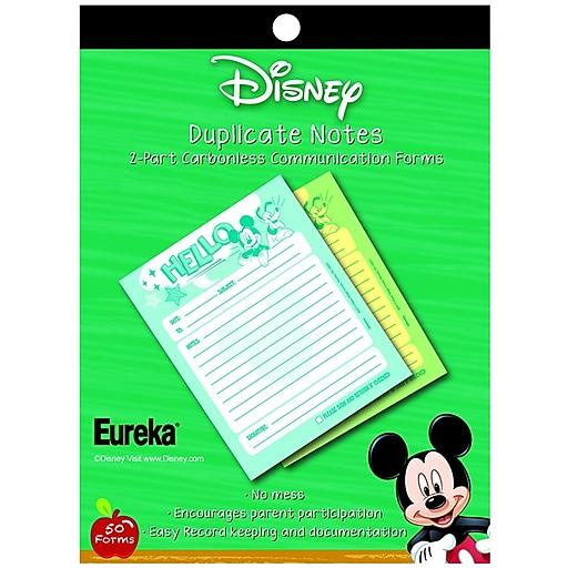 "Eureka® Mickey® Hello Duplicate Notes, 4"" x 6"" (EU-863202)"