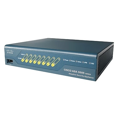Cisco™ ASA 5500 Series Unlimited-User Firewall Edition Bundle, 10 IPsec VPN peers