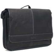 "Kenneth Cole Colombian 3"" Single Gusset Flap-Over Messenger, Black"