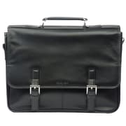 "Kenneth Cole Manhattan 5"" Double Gusset Flap-Over Portfolio, Black"