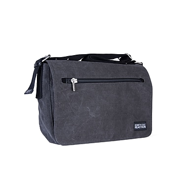Kenneth Cole Flap-Over Messenger Bag, Charcoal