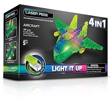 The Laser Pegs® Aircraft Series 4 in 1 Model Kit