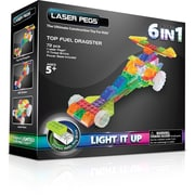 The Laser Pegs® Dragster Series 6 in 1 Model Kit