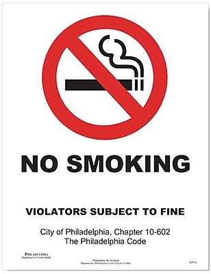 ComplyRight™ Philadelphia No Smoking Downloadable Poster
