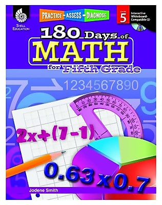 Practice, Assess, Diagnose: 180 Days of Math for Fifth Grade (50808)