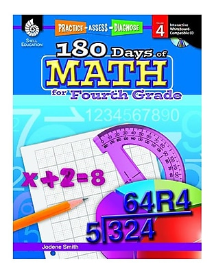 Practice, Assess, Diagnose: 180 Days of Math for Fourth Grade (50807)