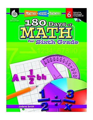 Practice, Assess, Diagnose: 180 Days of Math for Sixth Grade (50802)
