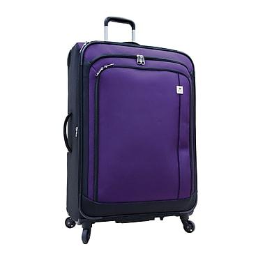 Delsey® – Valise expansible sur roulettes multidirectionnelles Samboro Feather Lite, 28 po, violet