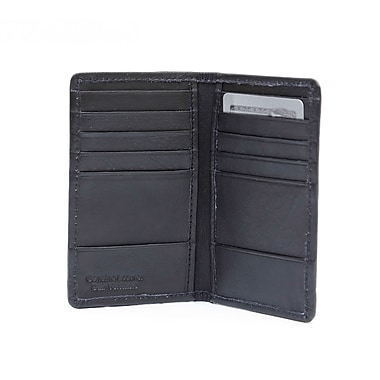 Ashlin® Leather Colchester Slim Card Caddy, Black
