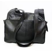 Ashlin® – Sac à main organisateur pour femmes Leone, cuir, noir