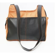 Ashlin® Leather Colour-Blocking Leone Ladies Organizer Bag