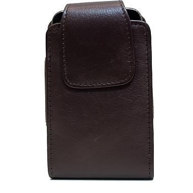 Ashlin® – Étui Catanzaro Universel en cuir pour téléphone intelligent iPhone 5, iPhone 6, Samsung S4, brun foncé