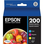 Epson® T200 Black, Cyan, Magenta and Yellow Ink Cartridges Combo Pack (T200120-BCS)